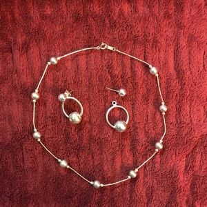 Sterling Silver Necklace and ear rings set